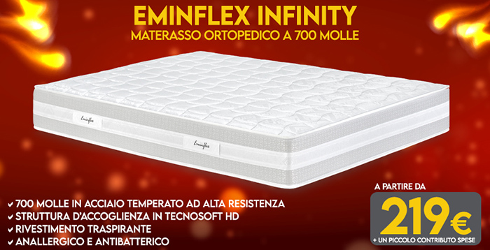 Materassi ortopedici - Offerta Eminflex - Infinity