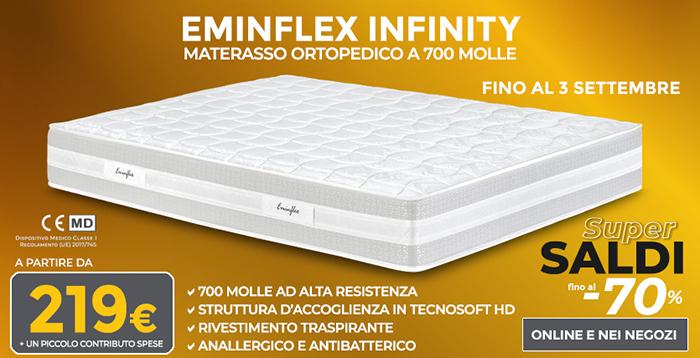 Eminflex Materasso Matrimoniale Infinity.Materassi Ortopedici Offerta Eminflex Infinity