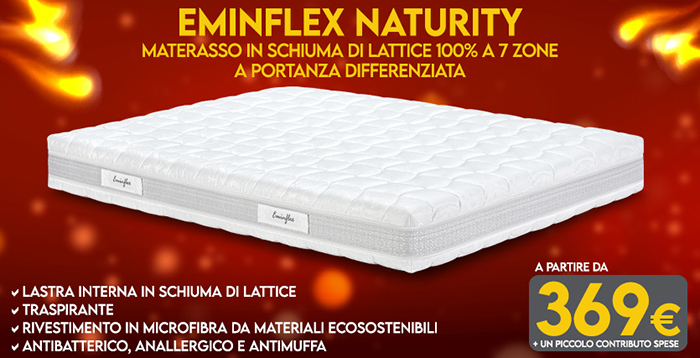 Materassi in lattice ecologici - Offerte Eminflex - NATURITY