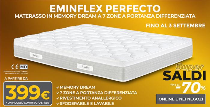 Materassi In Memory Foam Eminflex.Materassi Memory Perfecto Di Eminflex