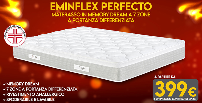 Materassi memory - Perfecto di Eminflex