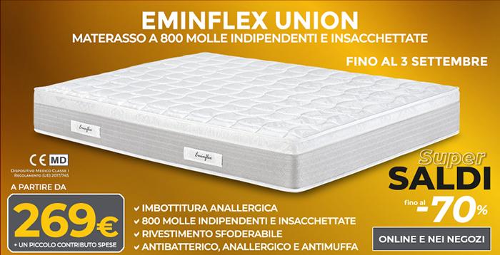 Materassi anatomici antiacaro offerte eminflex union for Eminflex materassi memory