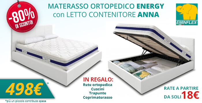 Offerta Materasso Rigenera Energy E Letto Armadio Eminflex