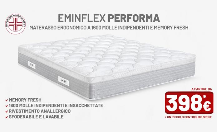Materasso Performa Eminflex Opinioni.Materassi Memory Eminflex Performa